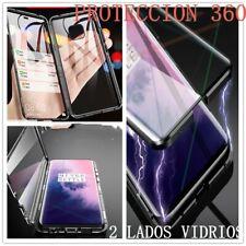 FUNDA CARCASA 360° MAGNÉTICA 2 LADOS CRISTAL TEMPLADO METAL IPHONE X /...