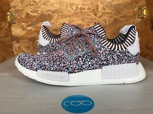 reputable site 57e1e 43209 Image is loading Adidas-NMD-R1-Primeknit-Multicolor-Rainbow-Color-Static-