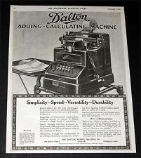 1919 OLD MAGAZINE PRINT AD, DALTON ADDING-CALCULATING MACHINES FOR DURABILITY!