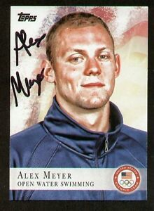 Summer Alex Meyer Signed Autograph Auto 2012 Topps Olympic Team Usa Trading Card