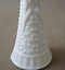"thumbnail 3 - Set of 2 Vintage Anchor Hocking 1071 Pressed White Milk Glass Bud Vase 9"""