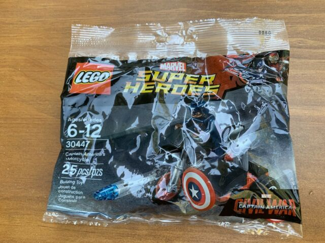 LEGO Marvel Super Heroes 30447 Captain America/'s Motorcycle  NEW