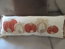 """WORLD MARKET Woven Red and Green Lumbar Pillow 14/"""" x 24/"""" NEW! SEALED"""
