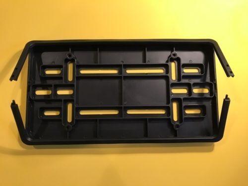 FRONT LICENSE PLATE BUMPER BRACKET FOR-NISSAN 4 SCREWS W//CLIP-ON FRAME