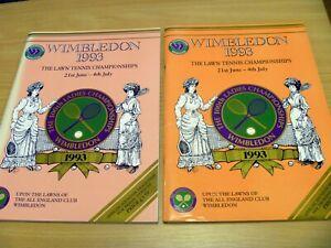 2 x WIMBLEDON LAWN TENNIS CHAMPIONSHIPS programme - 1993 - Day 4 & 5