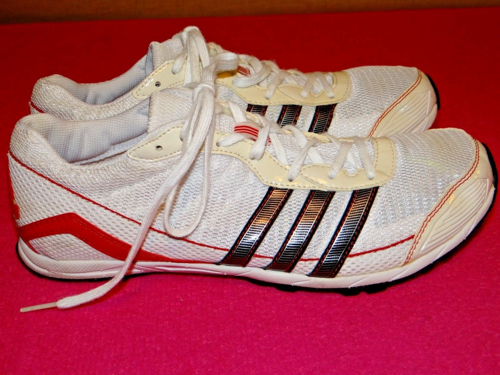 EEUC ADIDAS Adiwear White Red Black Spikeless Shoes Women Price reduction Wild casual shoes
