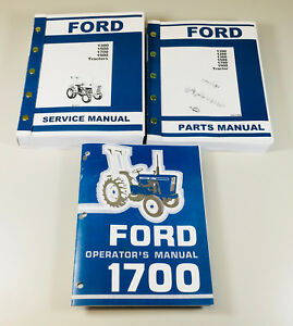 ford 1700 tractor service parts operators manual owners repair rh ebay com Ford 1700 Tractor Hydraulic Filter ford 1700 tractor repair manual online