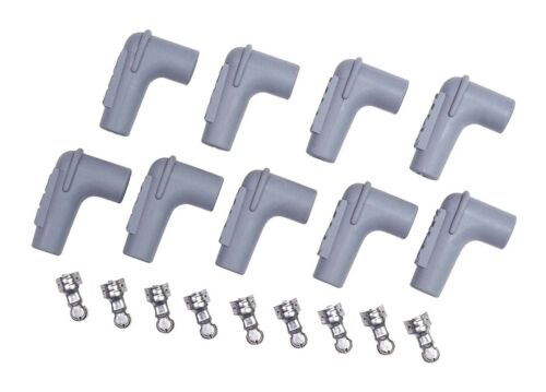 90 Degree Set of 8 MSD Ignition 8850 Spark Plug Boot And Terminal Set