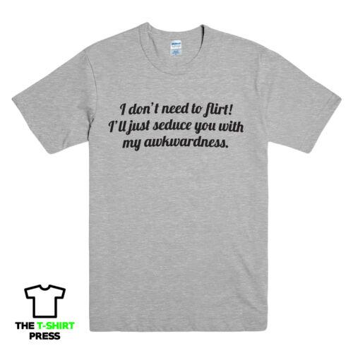 T-shirt Slogan Drôle FLIRT Tee Top pour homme geek difficile séduire cadeau de nouveauté Nerd