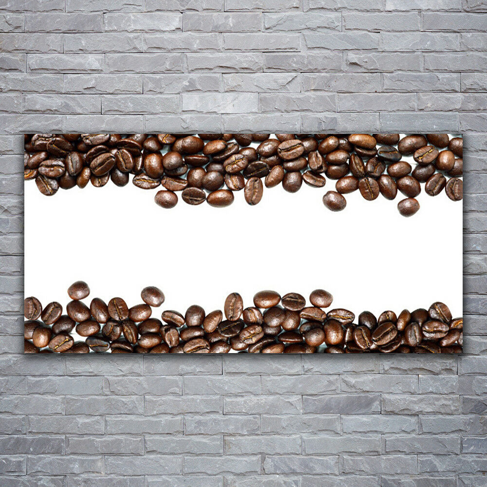 Print on Glass Wall art 120x60 Picture Image Coffee Beans Kitchen