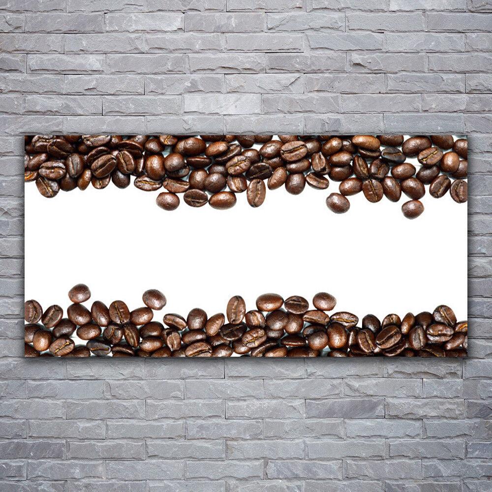 Impression sur verre Wall Art 120x60 Photo Image grains de café Cuisine