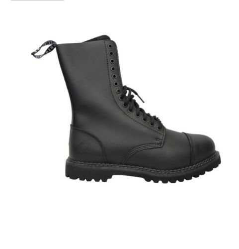 Grinders Herald CS Derby Black Unisex 14 Holes Casual Style High Quality Boots