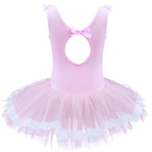 Ballet Tutu Princess Dress Dance Wear Costume Leotard Party Girls Kids Ballerina