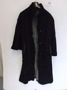 dames en de f20 aisselle Manteau 19 47 noire Length vintage fourrure aisselle ATZxwgq