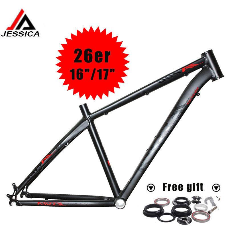 Aleación de Aluminio 26er Cuadro para Bicicleta de montaña Bicicleta De Montaña Xc Recto BSA Marco 68mm 16 17