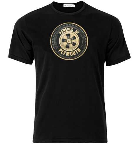 Powered By Plymouth Graphic Cotton T Shirt Short /& Long Sleeve