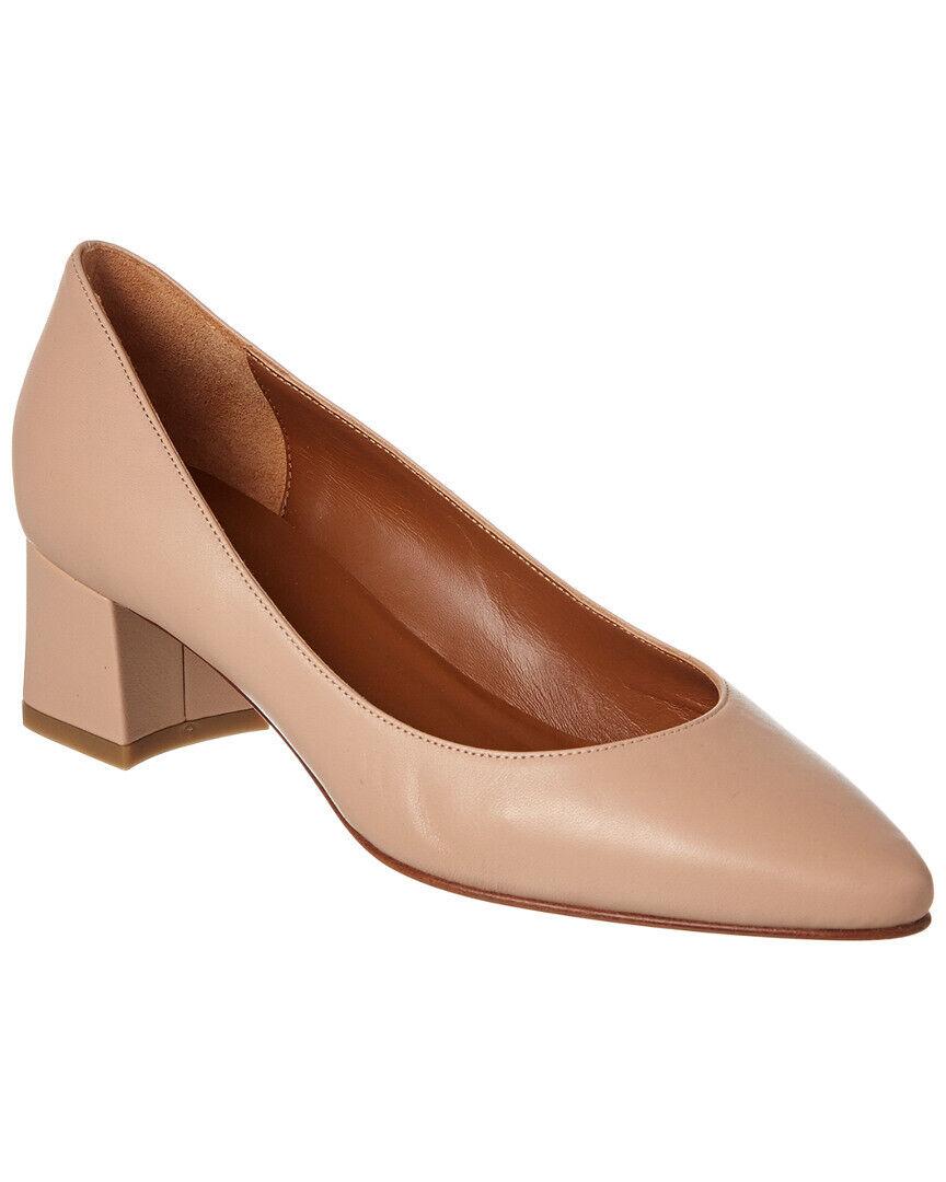 Aquatalia Pheobe patente vestido vestido de taco de bloque bomba Zapatos bomba Zapatos bomba Nude 8.5M 16595d