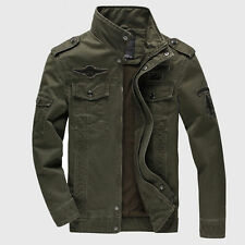 Men Military Army Style Jacket Fashion Air Force Casual Jacket Outwear Plus Size