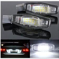 2Pcs White LED License Plate Lights for Acura TL RL TSX RDX Honda Civic Accord