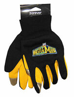 Wwe Wrestling Wrestlemania Black & Yellow Texting Gloves Official Youth Kids