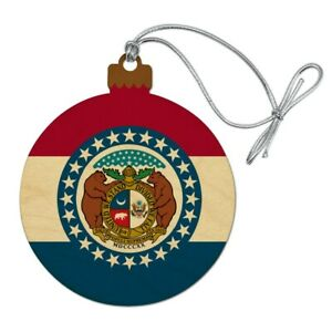 Missouri State Flag Wood Christmas Tree Holiday Ornament ...