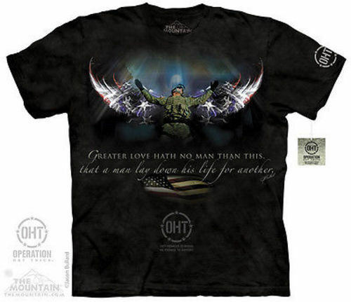 The Mountain Winged Soldier Gaurdian Angel Hero Army Usa Navy T Shirt S-5Xl