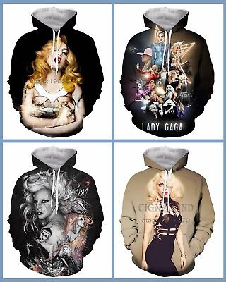 New Fashion Women//Men Lady Gaga 3D Print Casual Sweatshirt U12