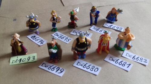 figurine astérix kinder  par lot de 3 au choix 25