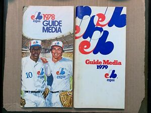 1978 VG/EX 1979 VG Montreal Expos Media Guides Lot of Two (2) Guides