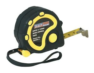 Sealey-AK989-Rubber-Measuring-Tape-5mtr-16-ft-environ-4-88-m-x-19-mm-Metric-Imperial