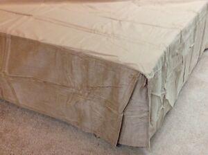 Corduroy Linen Tailored Bedskirt Dust Ruffle Twin King Ebay