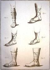 Encyclopédie Méthodique Antiquités Mythologie Jambarts chaussure militaire 1786