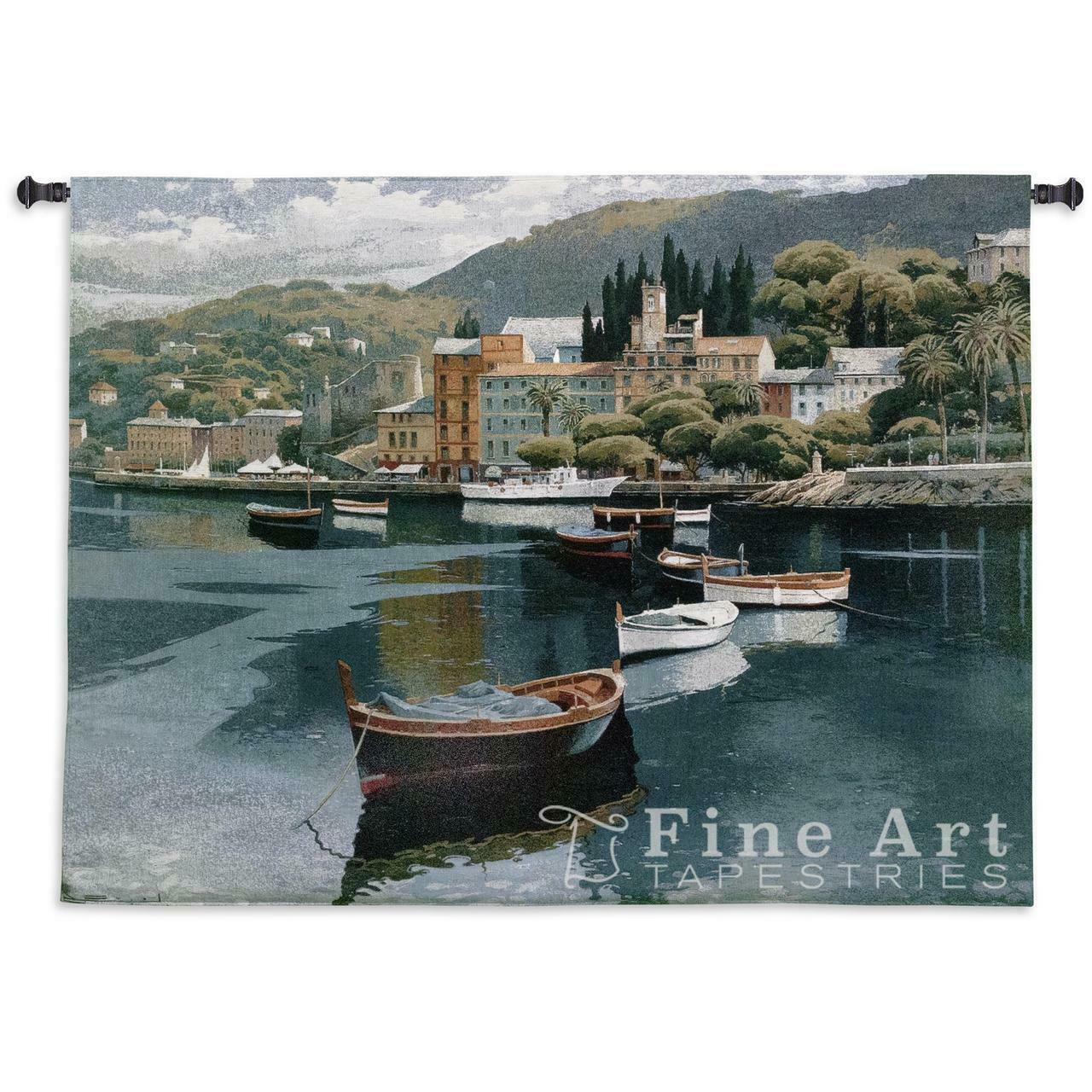Before the Rain Tropical Landscape Sea View Tapestry