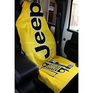 1 Yellow Seat Armour Universal Fit Jeep Towel Seat
