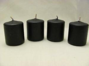 Details about Group of 4 Wicca Pagan Black Dark Magick Unscented Votive  Candles FREE SHIPPING