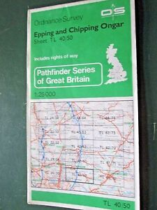 Ordnance-Survey-map-1-25000-Pathfinder-Sheet-TL-40-50-Epping-and-Chipping-Ongar