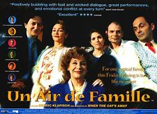 "MOVIE POSTER~Family Resemblances Un Air De Famille (1999) 30x40"" British Quad~"