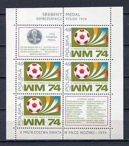 36090) Poland 1974 MNH Wc Soccer Munich S/S
