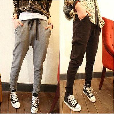 Korean Fashion Lady Elastic Sweatpants Loose Casual Pants Trousers Harem Pants