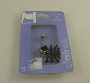 black-Spider-Crystal-belly-button-navel-ring-piercing-naval-gothic-Halloween