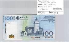 BILLET MACAO - BANCO DA CHINA - 100 PATACAS - 8.8.2008 - RARE !!!