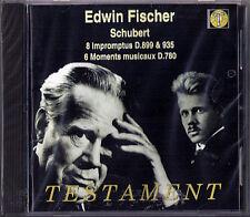 Edwin FISCHER: SCHUBERT 8 Imprompus Moments Musicaux D.899 935 780 CD Testament