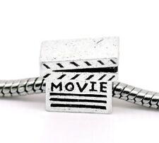 """Movie Clapper Board"" Bead Charm for Snake Chain Charm Bracelet"