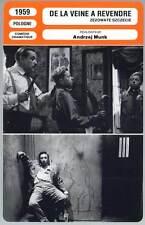 DE LA VEINE A REVENDRE - Kobiela,Munk (Fiche Cinéma) 1959 - Bad Luck