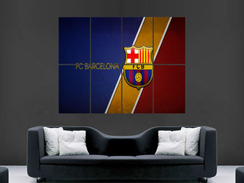 BARCELONA FC FOOTBALL CLUB SOCCER   ART HUGE LARGE WALL  POSTER  PRINT !