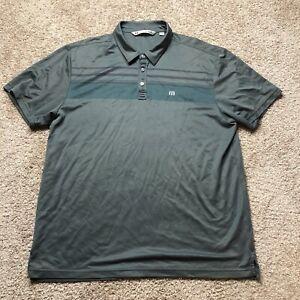 TRAVIS-MATHEW-XXL-Performance-Fit-Grey-Golf-Polo-Shirt