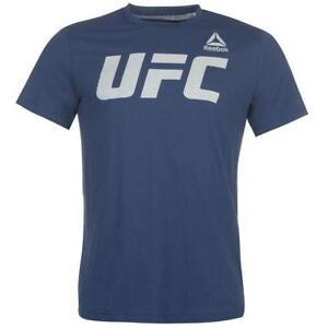 Reebok-officiel-UFC-Homme-T-shirt-bleu-neuf-Taille-039-S-M-L-XL-XX-L
