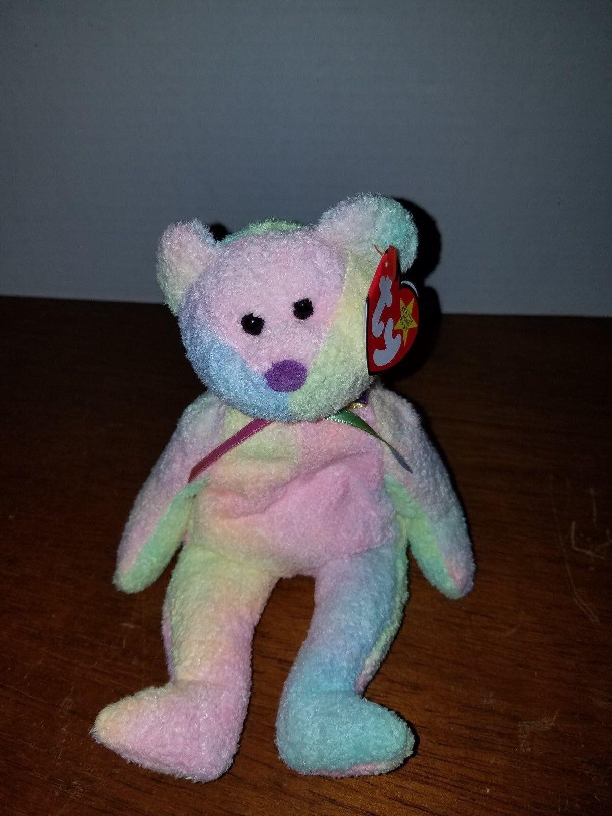 Ty Beanie Baby Groovy Bear with RARE Tush Tag   1999 FREE SHIP