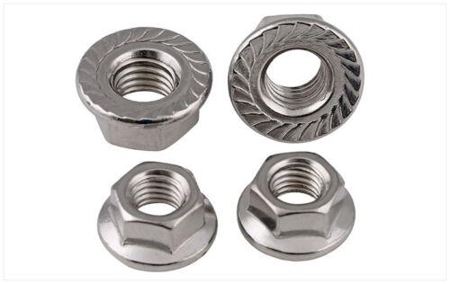 200pcs Metric M5 Stainless Steel Hex Head Flange Nut Hexagon Nut DIN6923