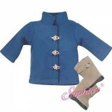 """Blue Toggle Coat Winter Jacket fits 18"""" American Girl Doll"""